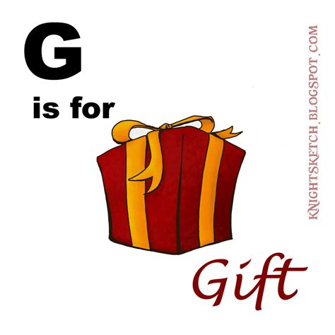 for gifts sketch g is for gift