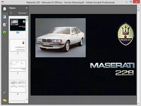 service manual free repair manual for a 1990 maserati 228 service manual installing dome