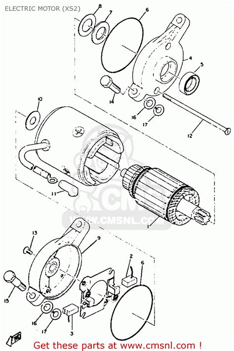 Electric Motor Breakdown by Yamaha Xs2 1970 1973 Electric Motor Xs2 Schematic