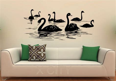 sticker designs for walls aliexpress buy swan birds wall decal lake vinyl