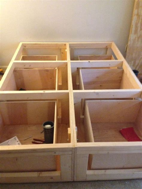 how to make a platform bed frame with drawers 25 best ideas about platform bed storage on