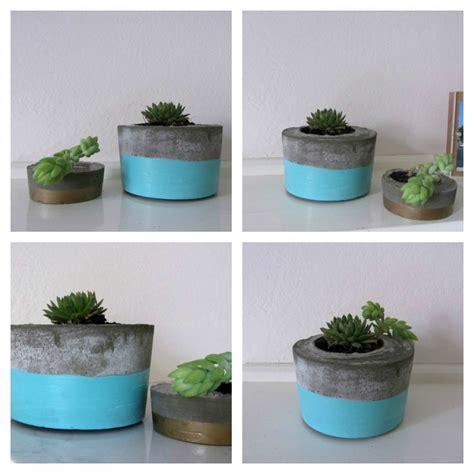 diy cement planters diy concrete planter l style curator shows you how