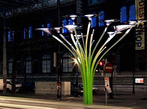 solar tree lights ross lovegrove solar trees in vienna inhabitat green