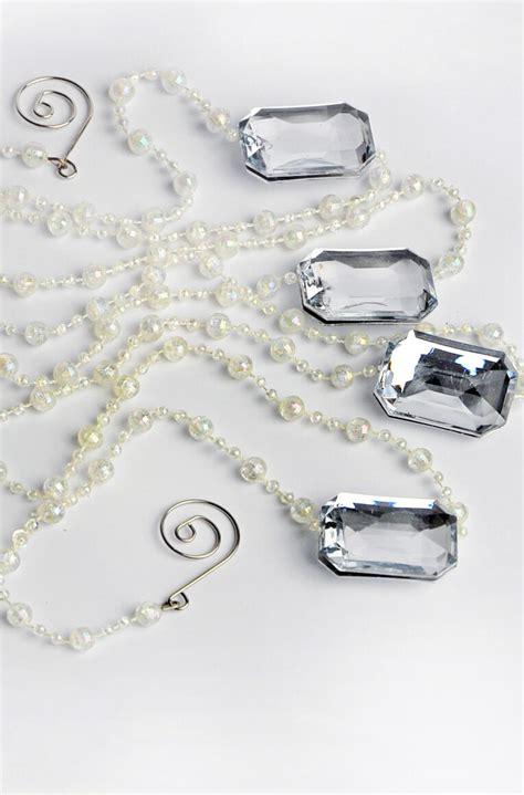 silver bead garland bead garland iridescent silver 6ft