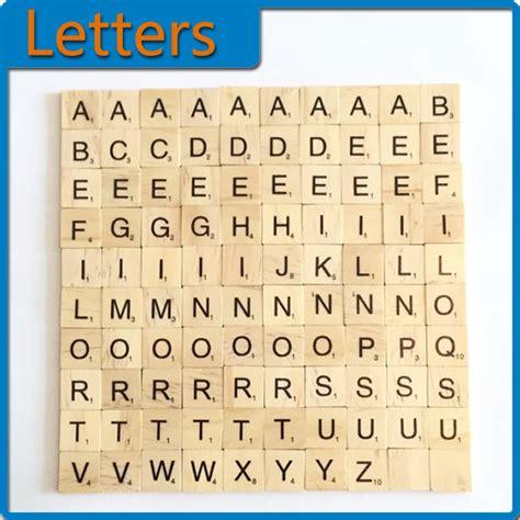 numbers of letters in scrabble pop 100pcs a z wooden scrabble tiles letters alphabet