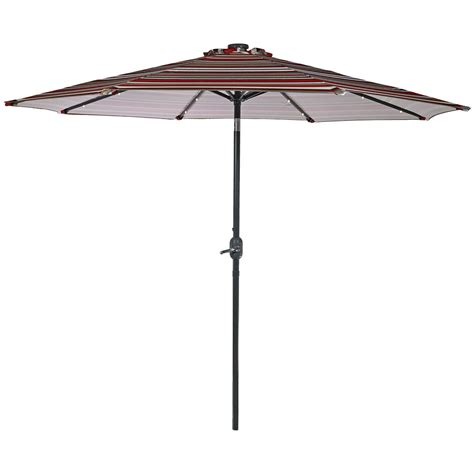 patio solar umbrella solar patio umbrella w tilt crank 9 ft aluminum solar leds colors ebay