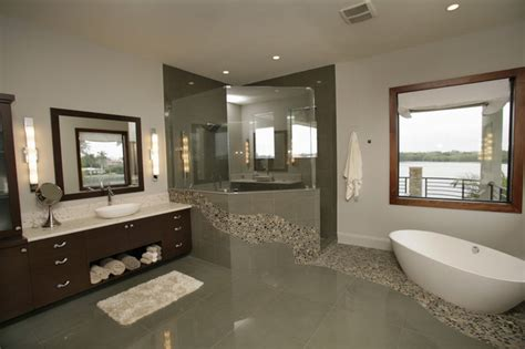modern homes bathrooms custom home in st petersburg fl
