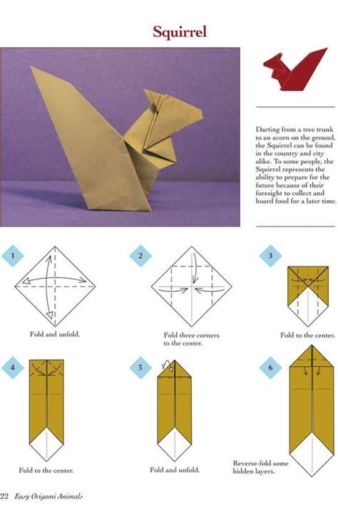 origami squirrel easy origami squirrel comot