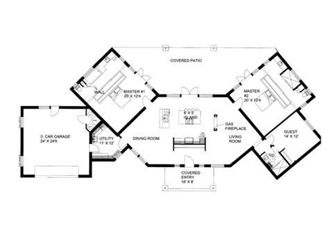 ranch house plans with 2 master suites ranch house plans with dual master suites