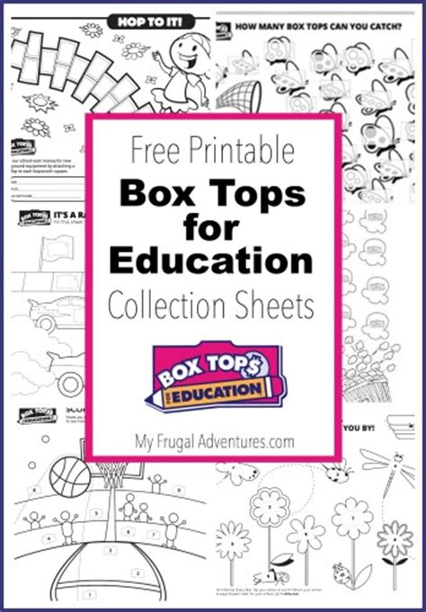 top sheets 10 printable box tops for education collection sheets my