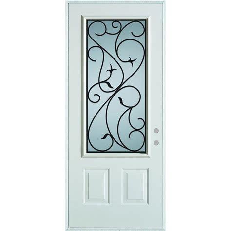 stanley glass doors stanley doors 36 in x 80 in silkscreened glass 3 4 lite