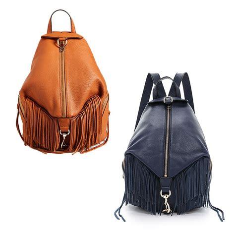 designer leather backpack minkoff julian fringe backpack rank style