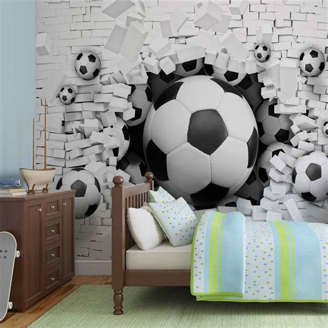 wall mural from photo wall mural football through the wall photo wallpaper