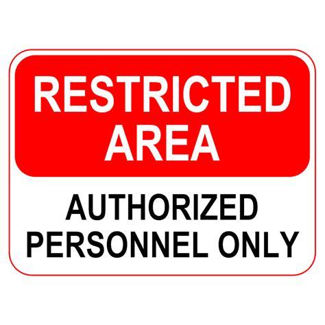 Smartdraw Floor Plan restricted area sign