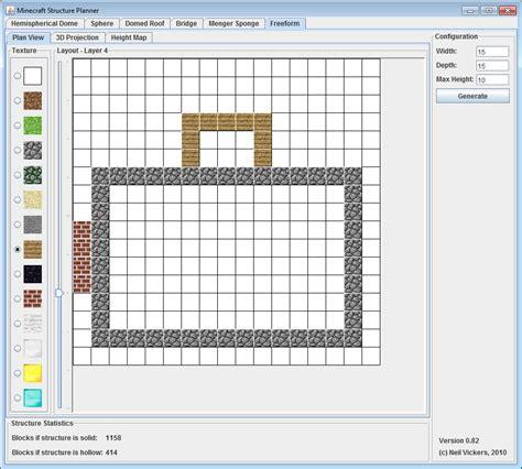 minecraft floor plan maker minecraft structure planner application minecraft tools