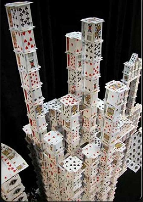how to make a card tower world s tallest cardhouse it s amazing pix o plenty