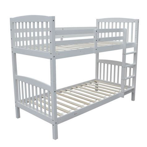 bunk beds that can be single beds homegear 3ft solid pine wooden bunk bed can split into 2