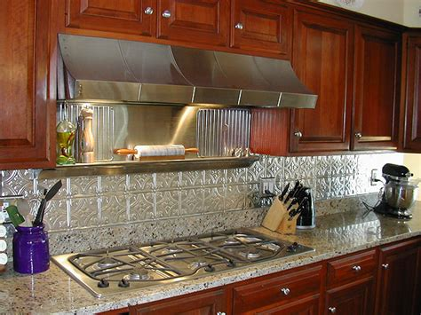 metal kitchen backsplash image gallery metal backsplash