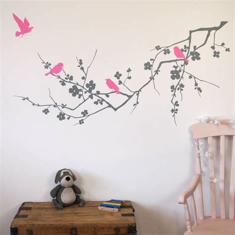 birds wall stickers birds on branch wall stickers by parkins interiors