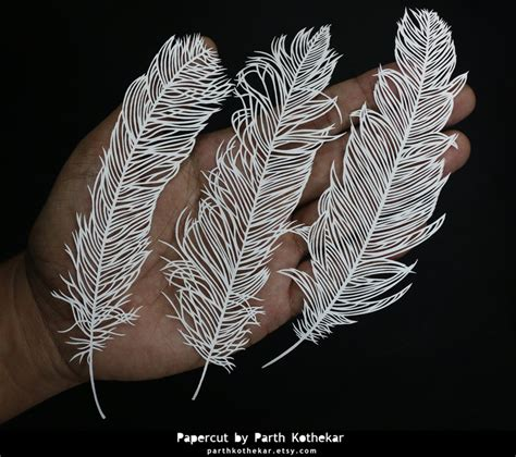 paper cut craft papercut craft papercutting paper feathers by
