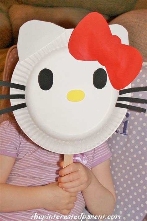 hello paper craft paper plate hello mask crafty 2 the diy