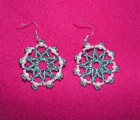 free beaded earring patterns free pattern for beaded earrings antarctica magic