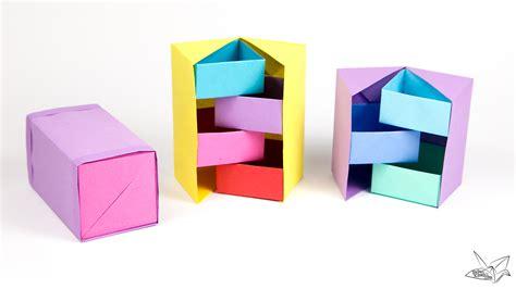 origami in the box origami secret stepper box tutorial paper kawaii