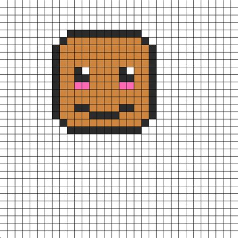 kawaii perler bead patterns kawaii potato perler bead pattern bead sprites food