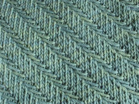 knit herringbone stitch woven diagonal herringbone knitting stitch ideas