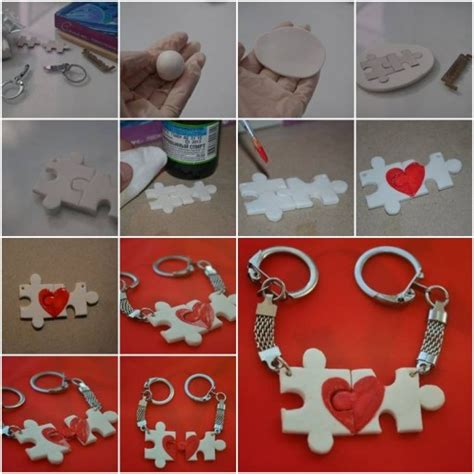 how to make a keychain with how to make lover puzzle key chain step by step diy