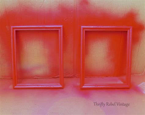spray painting frames how to spray paint picture frames and easy thrifty
