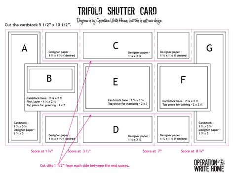 how to make a tri fold card scrap tri shutter card on shutters card