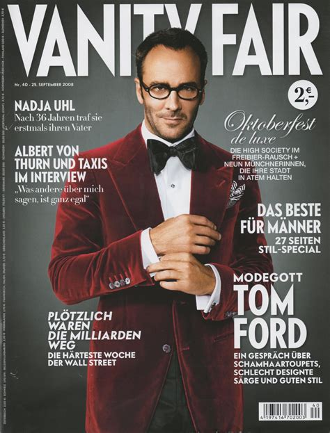 Vanity Fair History by Covers Of Vanity Fair Germany With Tom Ford 958 2008