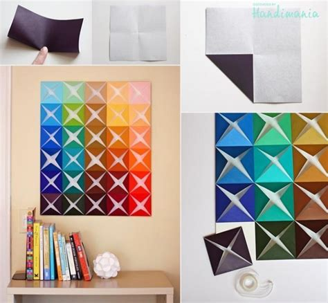 make paper crafts how to make origami paper craft wall decoration step by