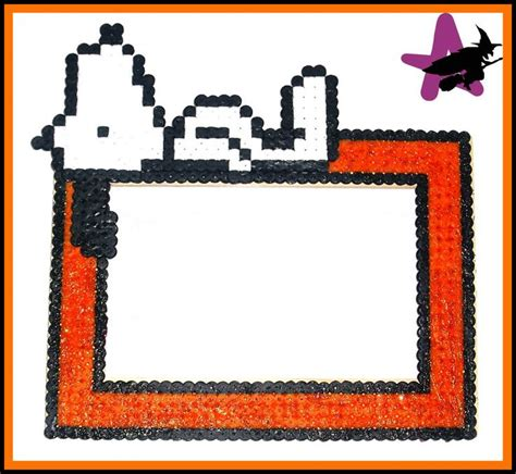 perler photo frames snoopy photo frame hama by perler