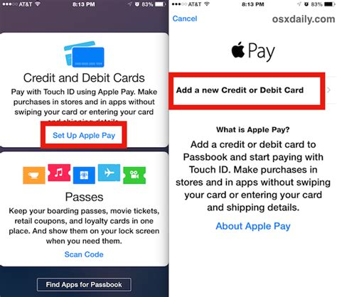 can i make payments on my credit card set up apple pay on iphone
