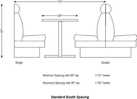 table dimensions table dimensions booth spacing restaurant design