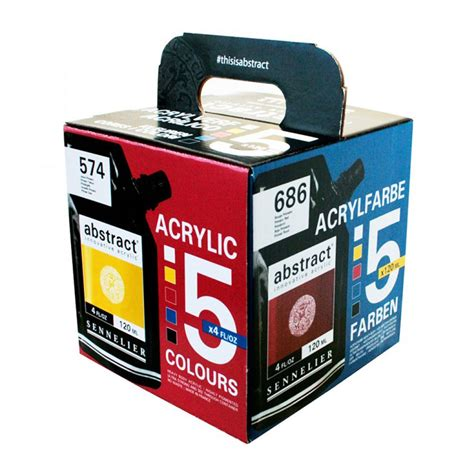 acrylic paint brands sennelier abstract acrylic paint set of 5 x 120ml