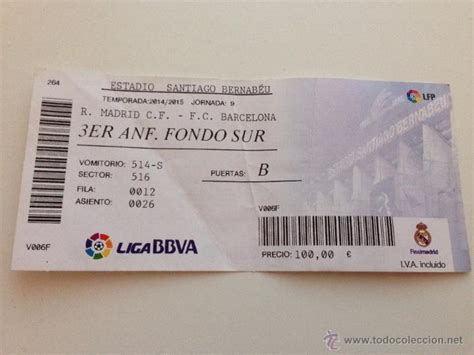 entradas madrid barcelona 2015 r4260 entrada ticket real madrid barcelona liga comprar