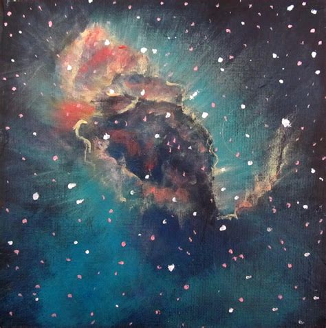 acrylic painting space nebula painting acrylic pics about space