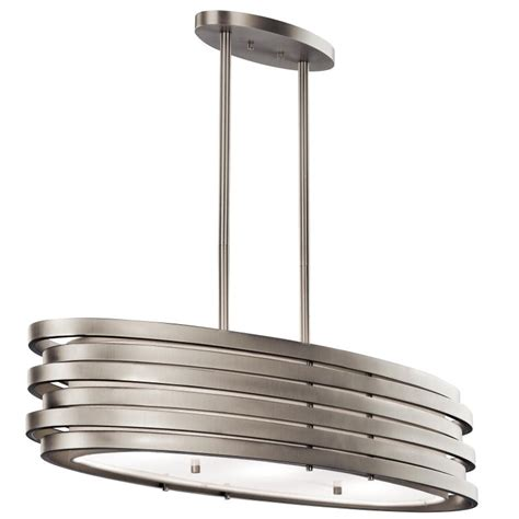 contemporary kitchen light fixtures kichler 43303ni roswell contemporary brushed nickel finish