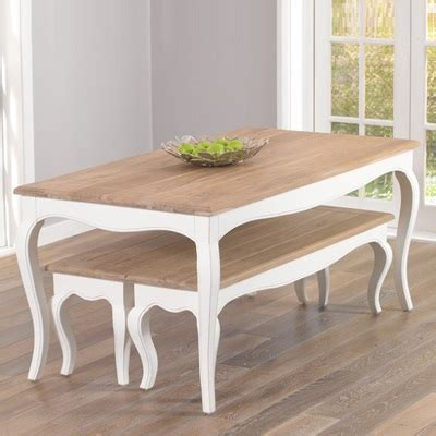 Ivory Painted Dining Table Seville Ivory Painted Distressed Dining Table With 2