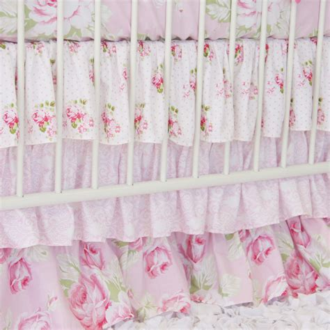 shabby chic nursery bedding shabby chic baby bedding sets shabby chic pink 5pc baby