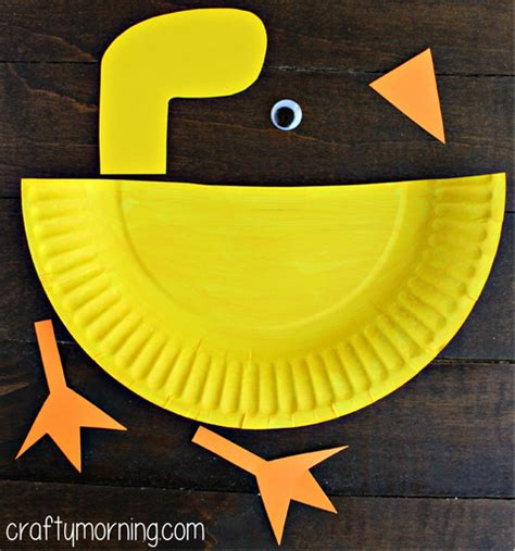 paper plate duck craft lesson plans on sight words alphabet and letters