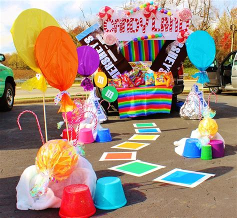 candyland crafts for trunk or treat decorating ideas clever candyland and