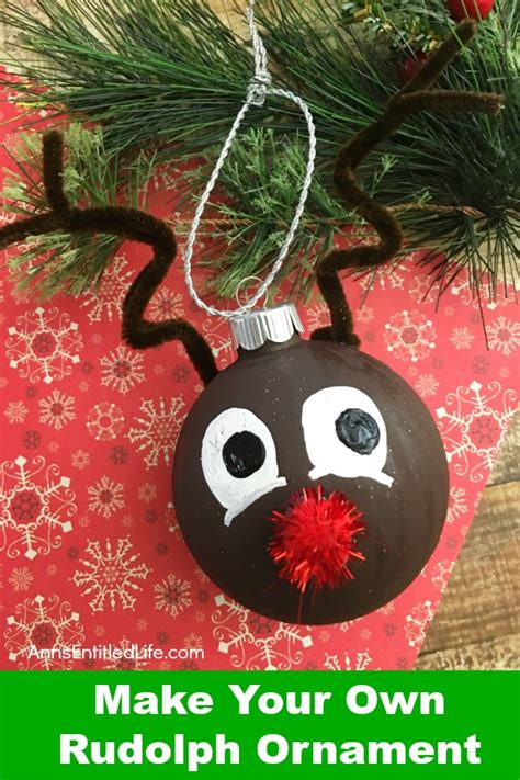 how to your ornament how to make your own rudolph ornament