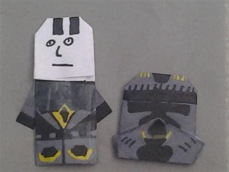 origami clone trooper phase 2 origami clonetrooper origami yoda
