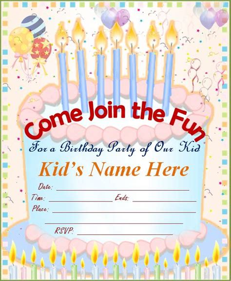 make a birthday invitation card free birthday invitations ideas