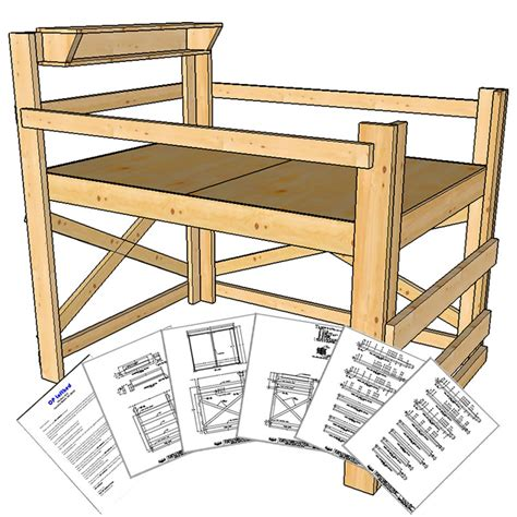 bed loft plans size loft bed plans medium height op loftbed