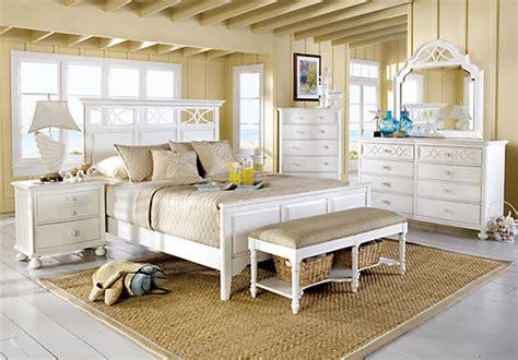 home seaside white 5 pc panel bedroom